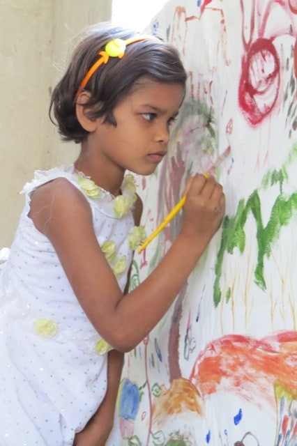 orphan child painting